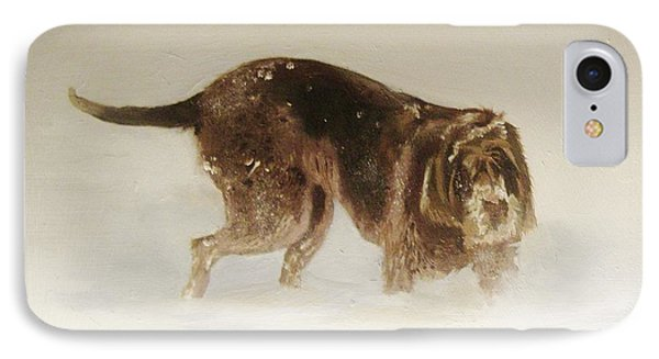 Italian Spinone In The Snow IPhone Case
