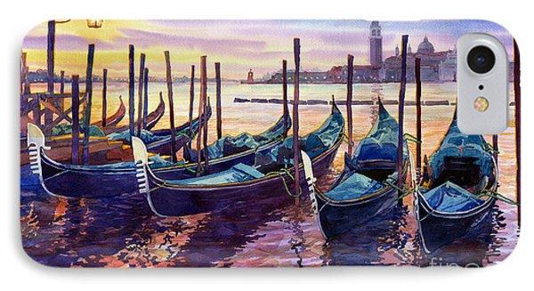 Boat iPhone 8 Case - Italy Venice Early Mornings by Yuriy Shevchuk