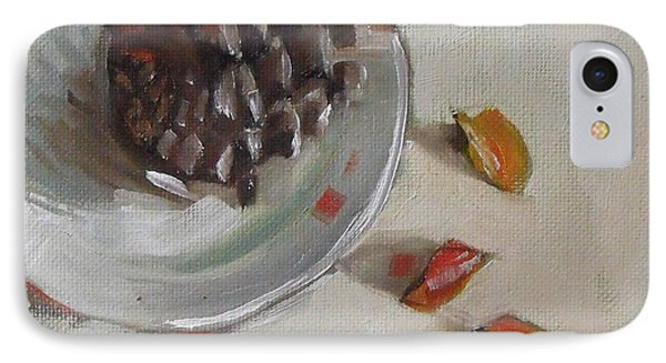 Pine Cone Still Life On A Plate IPhone Case