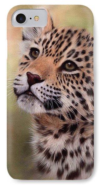 Jaguar Cub Painting IPhone Case