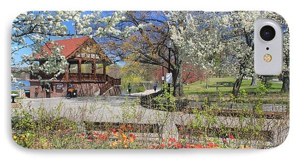 Jamaica Pond Boston In Spring IPhone Case