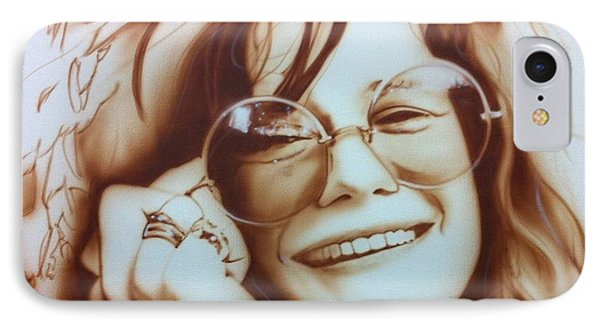 Rock And Roll iPhone 8 Case - Janis by Christian Chapman Art