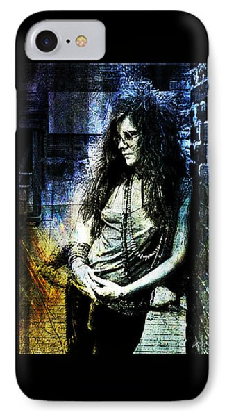 Janis Joplin - Blue IPhone Case