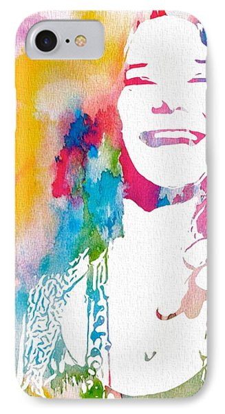 Janis Joplin Watercolor IPhone Case