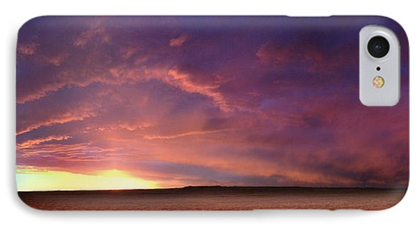 January Sunset With Cold Front IPhone Case