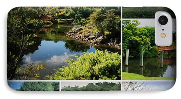 Japanese Gardens Collage IPhone Case