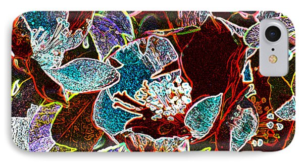Japanese Quince In Abstract IPhone Case
