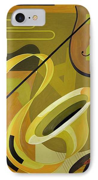 Trombone iPhone 8 Case - Jazz by Carolyn Hubbard-Ford