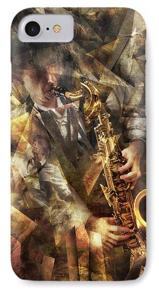 Saxophone iPhone 8 Case - Jazz by Christophe Kiciak