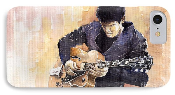 Impressionism iPhone 8 Case - Jazz Rock John Mayer 02 by Yuriy Shevchuk