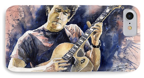 Impressionism iPhone 8 Case - Jazz Rock John Mayer 06 by Yuriy Shevchuk