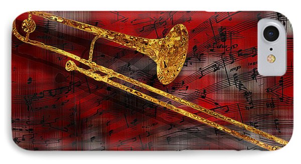 Trombone iPhone 8 Case - Jazz Trombone by Jack Zulli