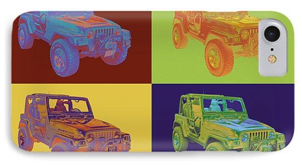 Jeep Wrangler Rubicon Pop Art IPhone Case