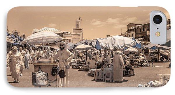 Jemaa El Fna Market In Marrakech IPhone Case