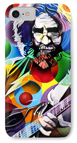Jerry Garcia In Bubbles IPhone Case