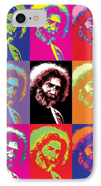 Tribute iPhone 8 Case - Jerry Garcia Pop Art Collage by Dan Sproul