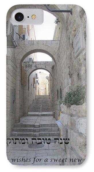 Jerusalem Street Scene For Rosh Hashanah IPhone Case