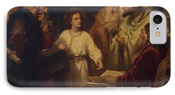 Jesus In The Temple IPhone Case