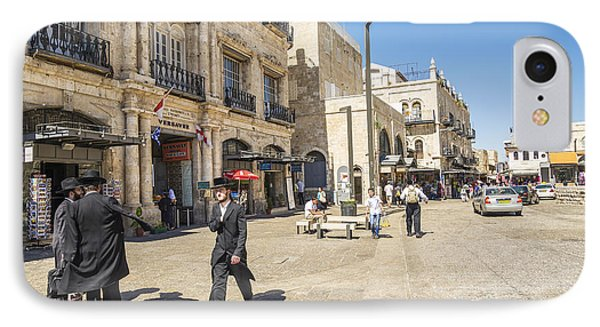 Jewish Men In Jerusalem Old Town Israel IPhone Case