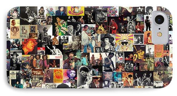 Jimi Hendrix Collage IPhone Case