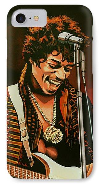 Knight iPhone 8 Case - Jimi Hendrix Painting by Paul Meijering