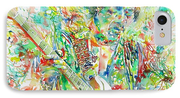Jimi Hendrix Playing The Guitar Portrait.1 IPhone Case