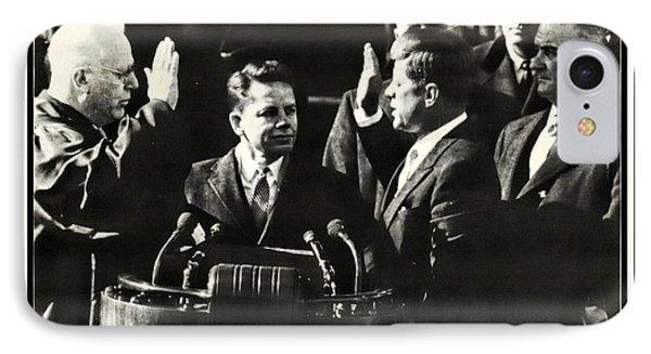 John F Kennedy Takes Oath Of Office IPhone Case