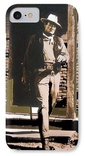 John Wayne Exciting The Sheriff's Office Rio Bravo Set Old Tucson Arizona 1959-2013 IPhone Case