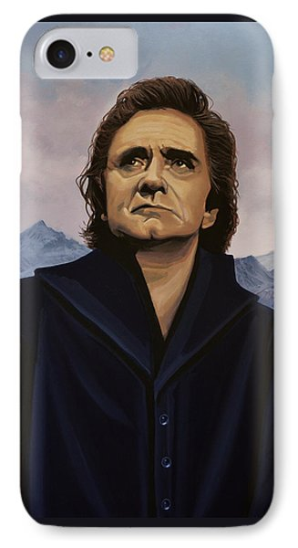 Rock And Roll iPhone 8 Case - Johnny Cash Painting by Paul Meijering