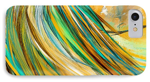 Joyous Soul- Yellow And Turquoise Artwork IPhone Case