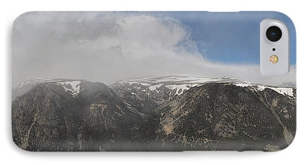 June Snow Squall Coming Down The Valley IPhone Case
