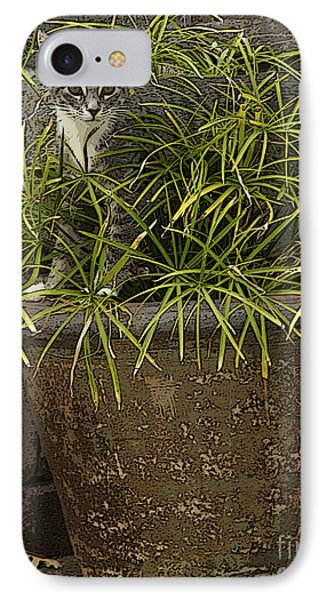 Jungle Kitty All Profits Go To Hospice Of The Calumet Area IPhone Case