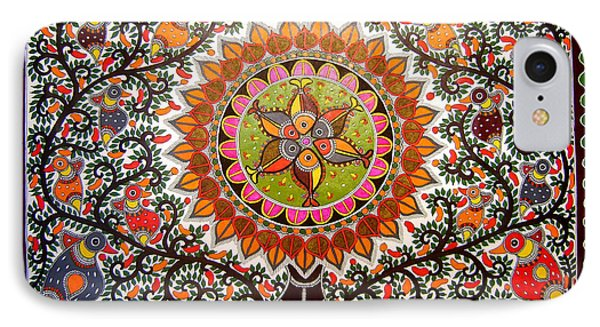 Jungle Life-madhubani Paintings IPhone Case