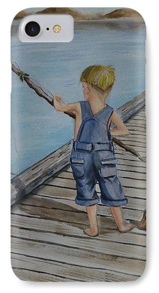 Juniors Amazing Fishing Pole IPhone Case
