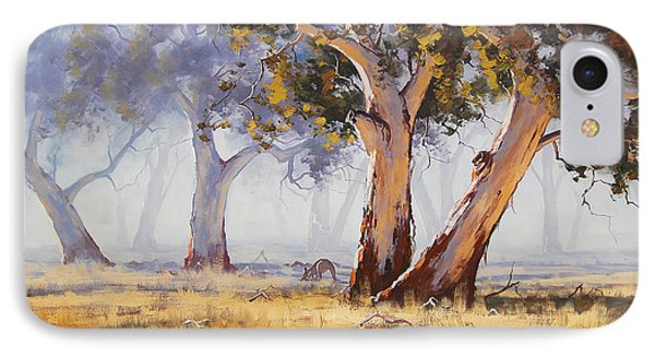 Impressionism iPhone 8 Case - Kangaroo Grazing by Graham Gercken