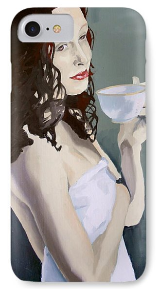 Katie - Morning Cup Of Tea IPhone Case