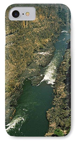 Kayakers Paddle Down The Zambezi Gorge IPhone Case