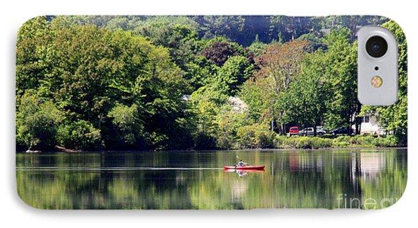 Kayaking  On Lake IPhone Case