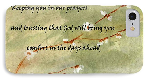 Keeping You In Our Prayers IPhone Case