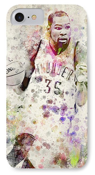 Kevin Durant In Color IPhone Case