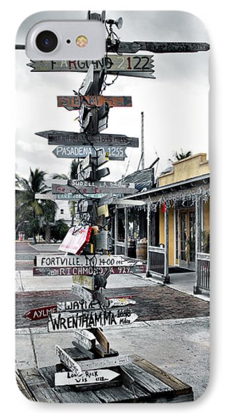 Key West Wharf IPhone Case