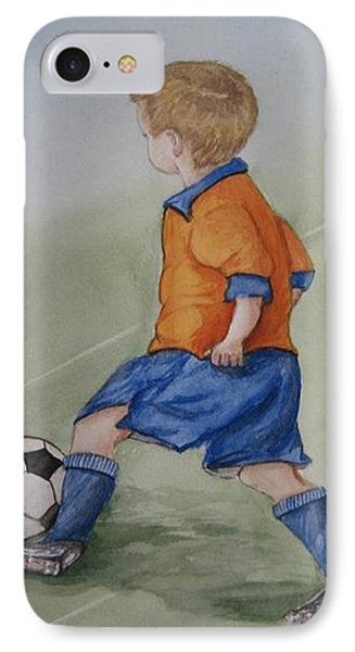 Kick N It ....boy And Soccer IPhone Case
