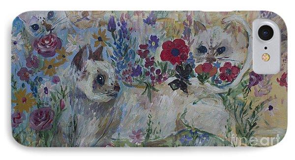 Kittens In Wildflowers IPhone Case