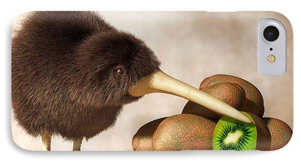 Kiwi Bird And Kiwifruit IPhone Case