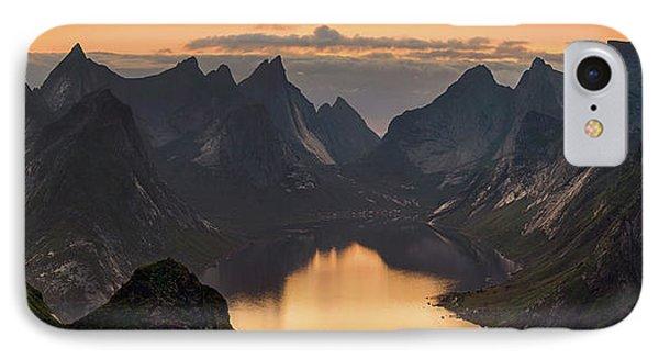 Kjerkfjorden Among Dramatic Mountain IPhone Case