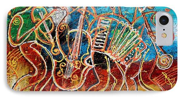 Saxophone iPhone 8 Case - Klezmer Music Band by Leon Zernitsky