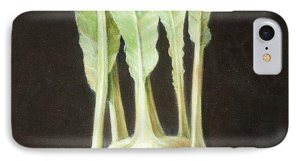 Kohl Rabi, 2012 Acrylic On Canvas IPhone Case