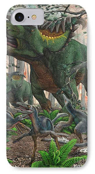 Kosmoceratops Tramples Over Nesting IPhone Case
