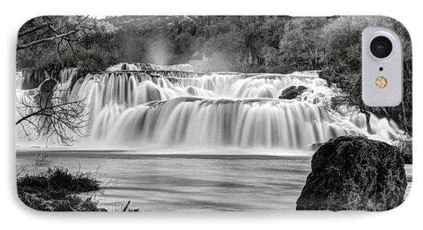 Krka Waterfalls Bw IPhone Case
