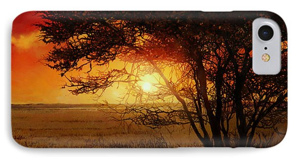 Africa iPhone 8 Case - La Savana Al Tramonto by Guido Borelli